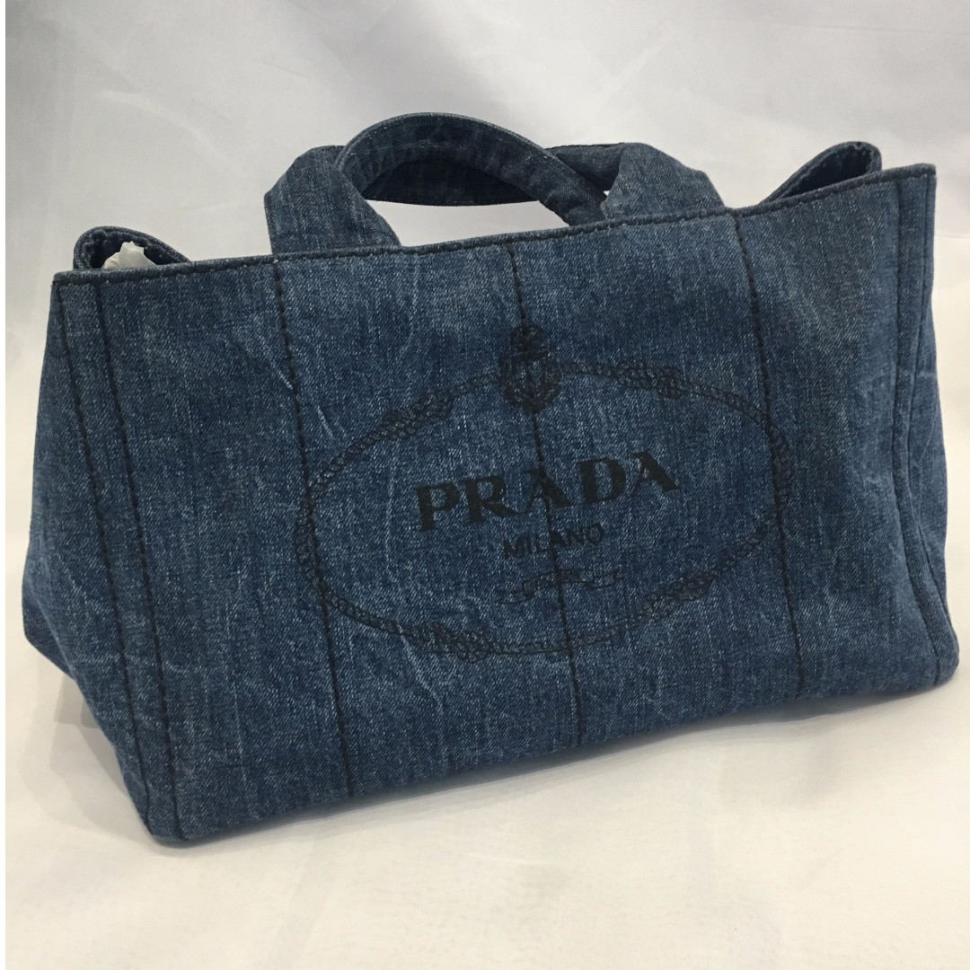76255af62778a3 ... switzerland prada denim canapa tote bag luxury bags wallets on  carousell 918ea 2e6a6