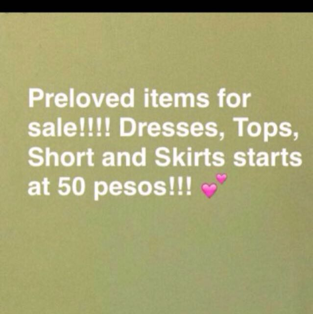 Preloved items for as low as 50!!!