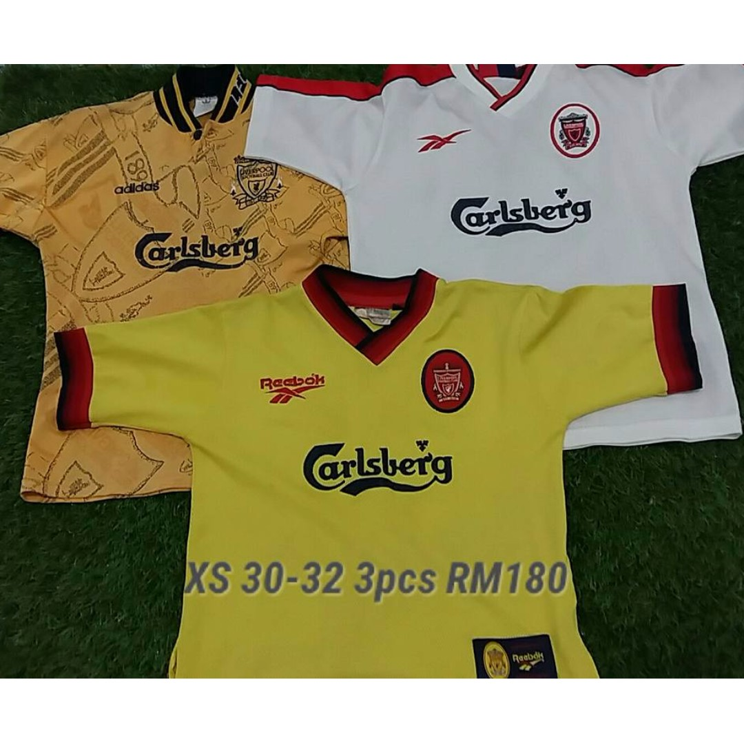 best loved 96cfd 366d5 Pre-loved Liverpool FC Jersey Season 1994-1996 3rd Kit, 1997-1998 Away,  1998-1999 Away