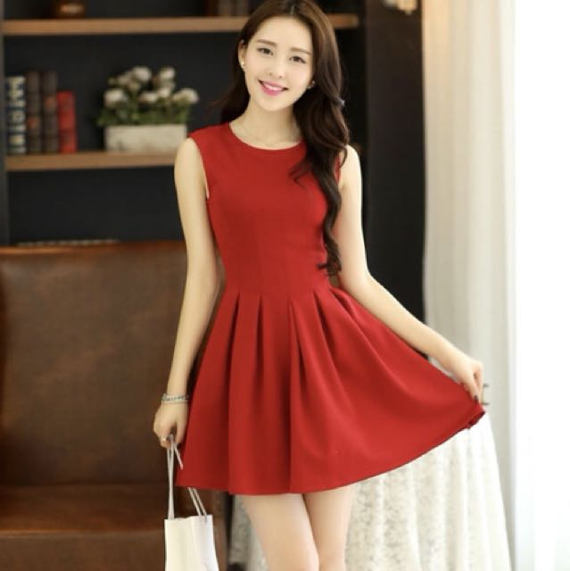 Red dress, size S