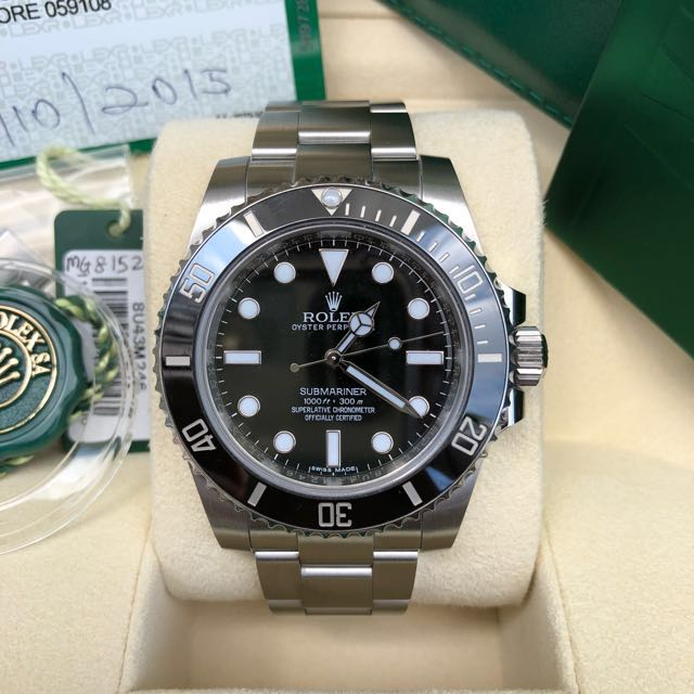 rolex submariner 114060 2015 luxury watches on carousell. Black Bedroom Furniture Sets. Home Design Ideas