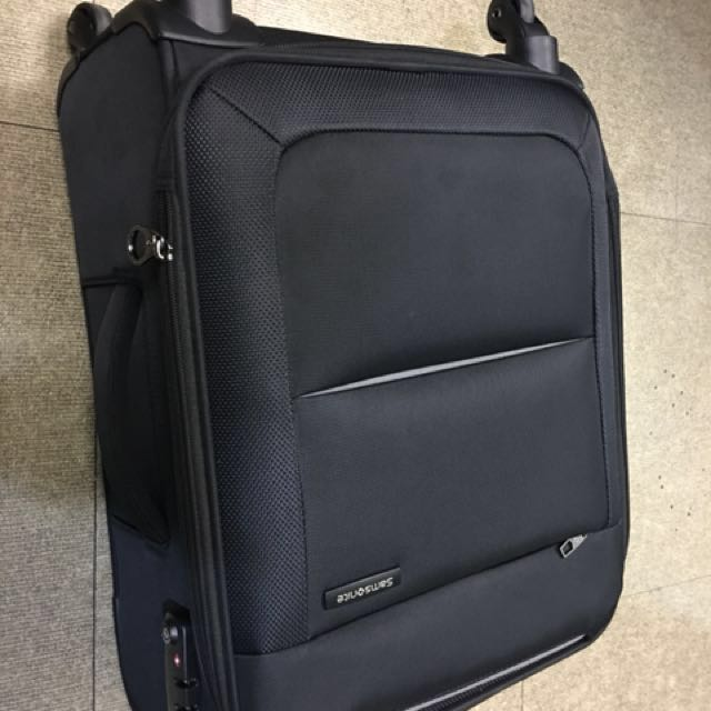 Samsonite Basal Spinner Synthetic 55 cm, Black, Carry on Luggage