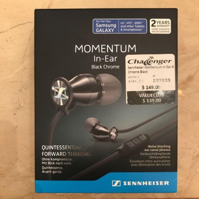 Sennheiser Momentum In-Ear G Chrome Black 88d441fe16