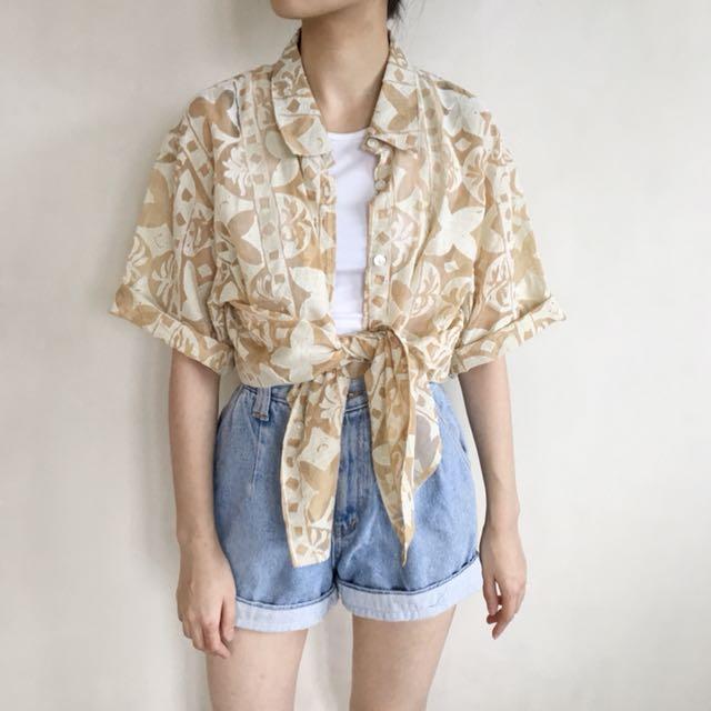Sheer Tropical Shirt
