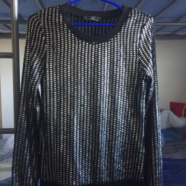 Silver long sleeve