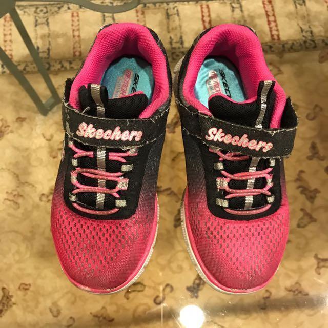 美國品牌Skechers 女童時尚休閒布鞋