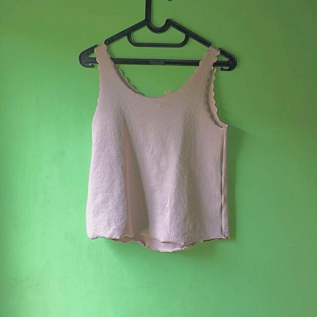 Sleeveless Blouse H&M Dusty Pink