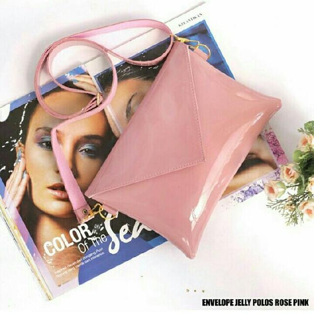 Sling Bag Jelly Env Pink