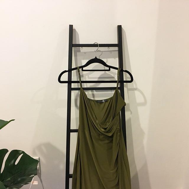 Slinky wrap maxi dress