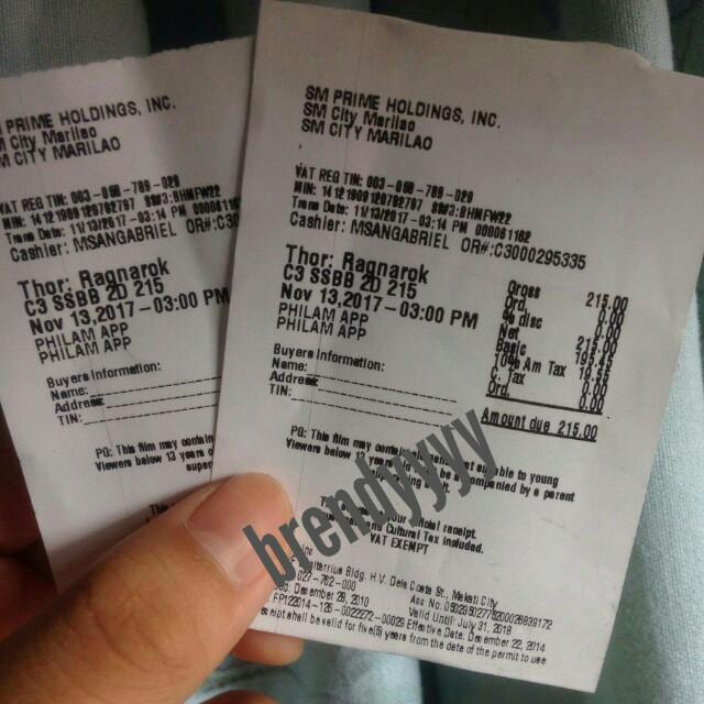 Sm Cinema Tickets