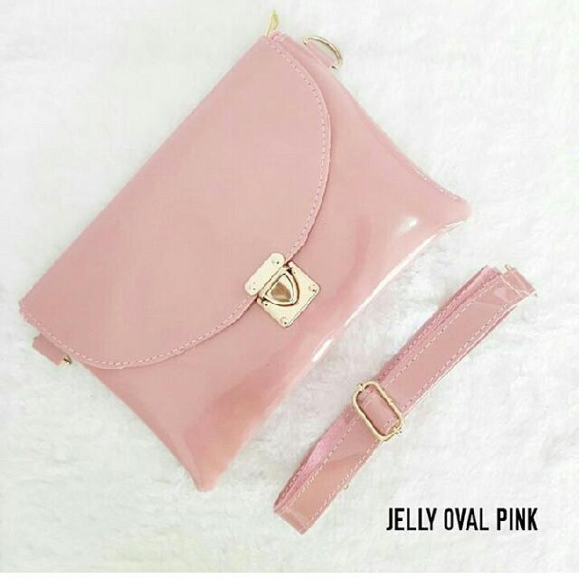 Tas Wanita Jelly Ovl Pink