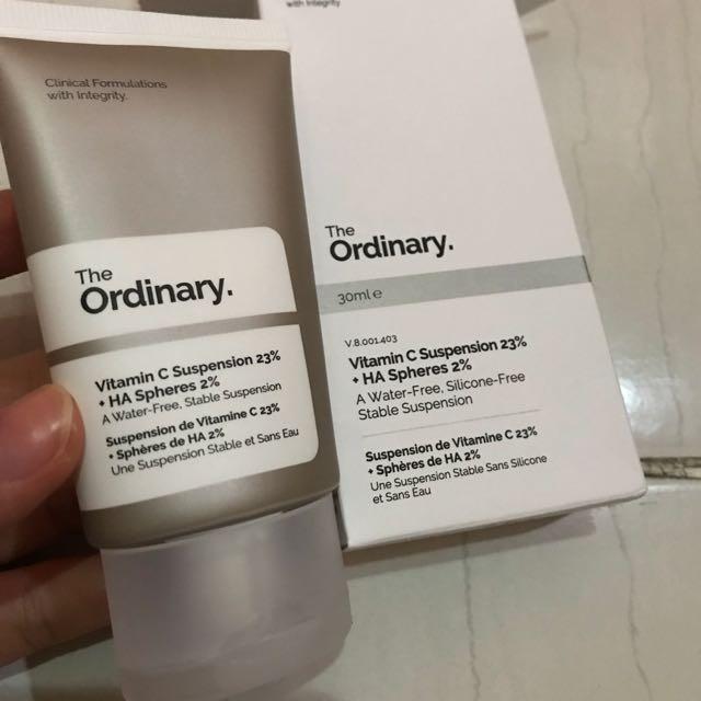 The ordinary vitamin c suspension 23%