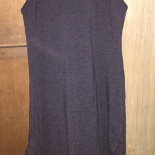 Turtleneck dress with slit on both sides