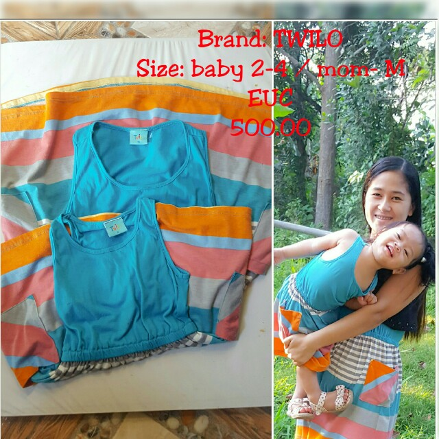 Twilo brand Mother & daughter terno