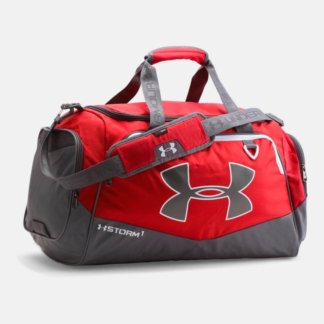 10ac2b46c4 Under Armour UA Undeniable II Storm 1 Medium Duffel - Red, Men's Fashion,  Bags & Wallets on Carousell
