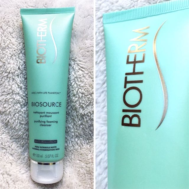 (Unused, Sealed) Biotherm Biosource Purifying Foaming Cleanser 150ml