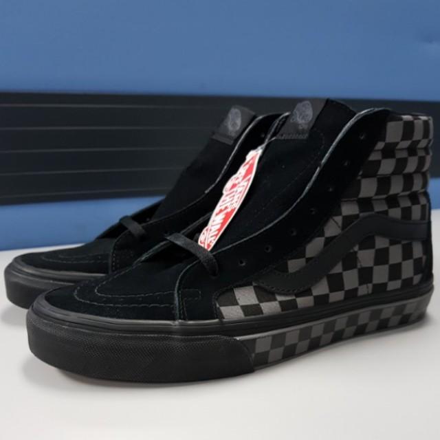 bc0f3af683f Vans Sk8 Hi Reissue Black Pewter Checkerboard