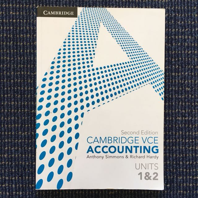 VCE 1/2 ACCOUNTING TEXTBOOK