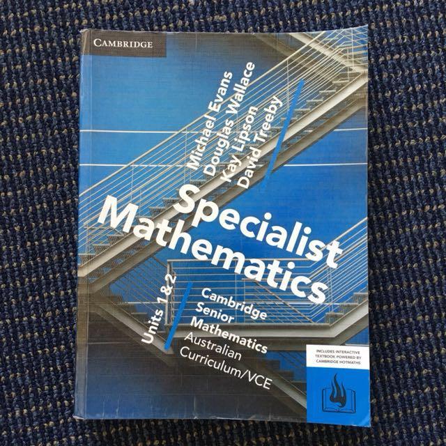 VCE UNIT 1/2 SPECIALIST MATHS TEXTBOOK