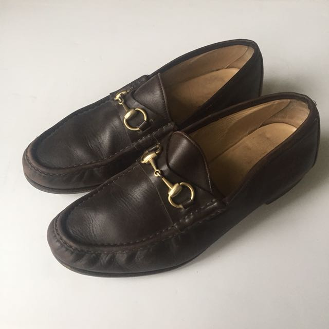 Vintage authentic men's Gucci loafers 43.5