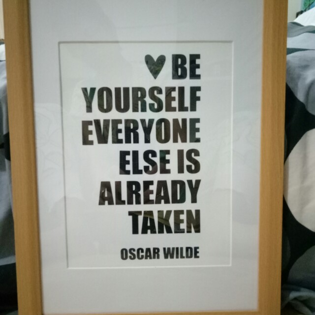 A4 Be Yourself Quote Vinyl Decal Framed Or Without Furniture