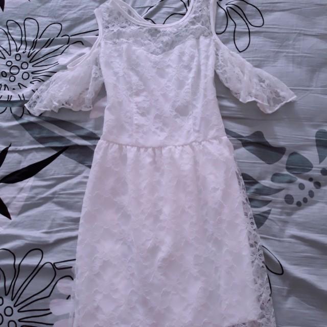 White Lace Maxi Long Dress