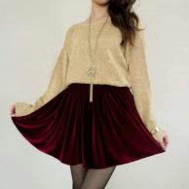 Winter Valvet Skirt