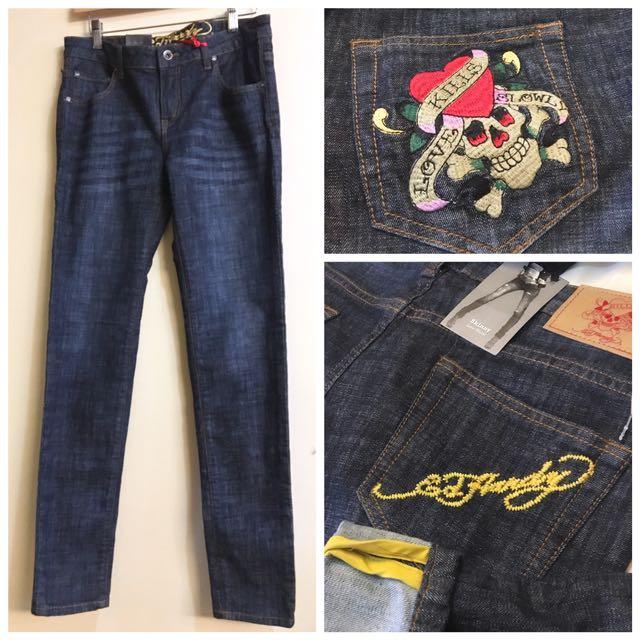 (WT) Authentic Ed Hardy Women's Skinny Low Waist Jeans (Size30)