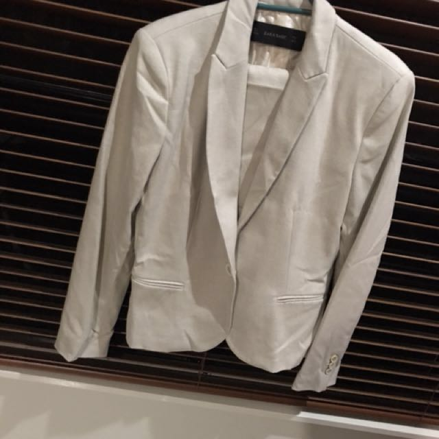 Brand New #Workwear outfit - Zara Cream Suit