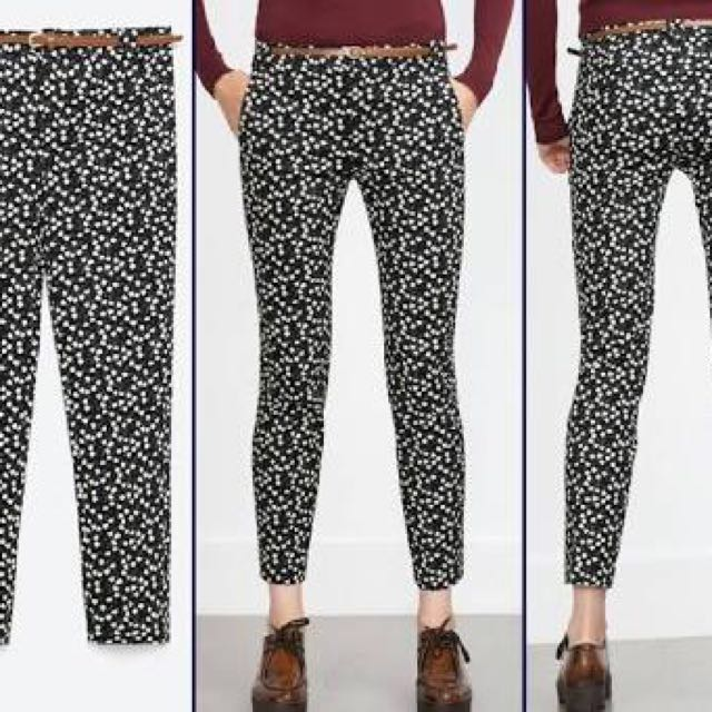 Zara Prints Pants/Trousers Size 38