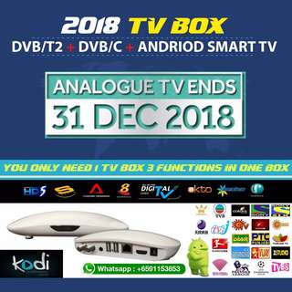 Tv Box Digital tv T2 cum Andriod cum cable tv Box Able to use in JB Johor Bahru!! For T2