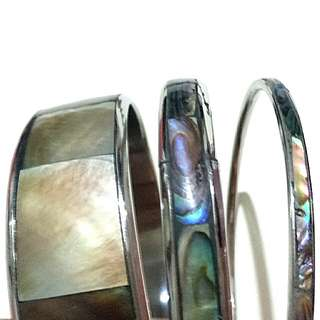 Set of 3 mother of pearl bangles