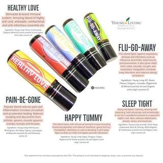 Family Essential Oils Roller blends infused with Young Living