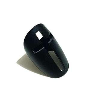 Metal enamel coated cross ring
