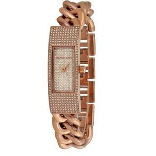 MICHAEL KORS Hayden Rose Crystal Pave Dial Rose Gold-plated Ladies Watch