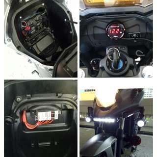 Nc700,Nc750x accessories installation