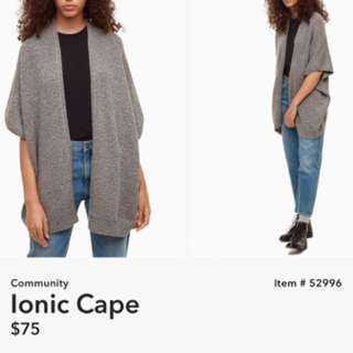 Aritzia Community Iconic Cape
