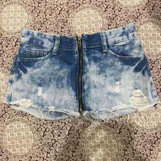 2 in 1 Hotpants jeans