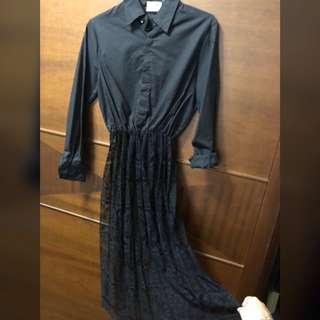 🚚 個性歐美拼接蕾絲洋裝