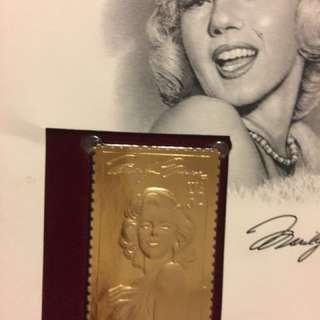 瑪麗蓮夢露黃金郵票