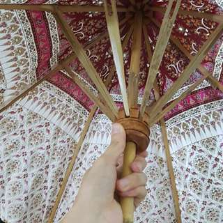 Bamboo parasol umbrella handmade
