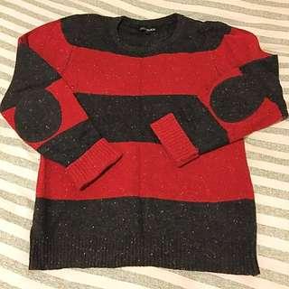 Red & Black Jumper (stripe) REDUCED Price