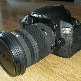 canon 700d +sigma 17-70 + canon 50 mm 1.8 f