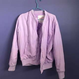 Super Purple Quilt Bomber Jacket