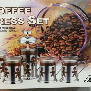 Coffee press set