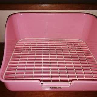Baby Pink Square Rabbit Toilet