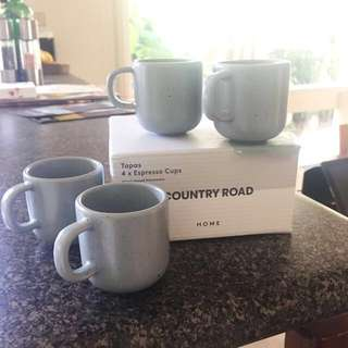 New! Country Road espresso cups