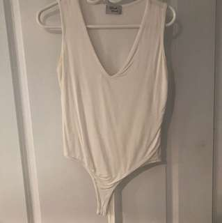 White Tank Top Body Suit from Medicino