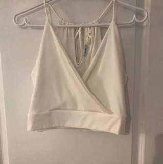Urban Outfitters White Cropped Top