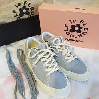 CONVERSE X GOLF LE FLEUR SUEDE LOW TOP 淺藍 花卉